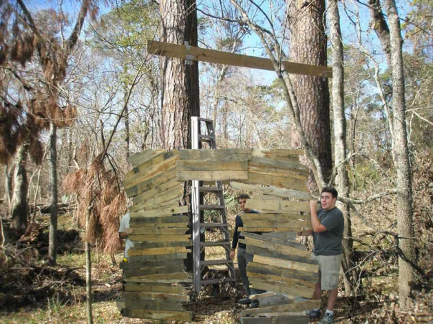 Morons build stargate in the woods