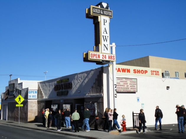 Rick Harrisons famous television pawn shop in Las Vegas.